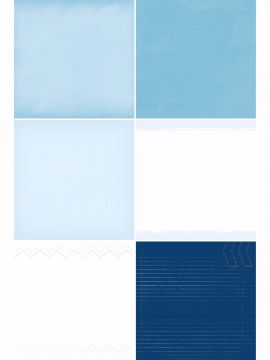 Blue Skies Designer Refill Pages - Set 18