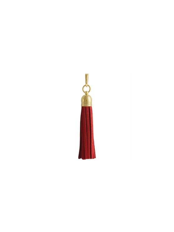 Red Leather Tassel