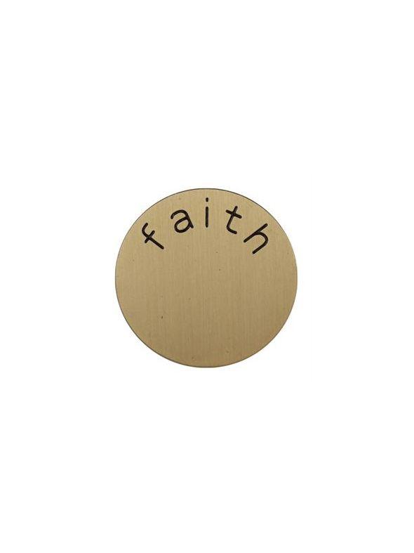'Faith' Medium Gold Coin