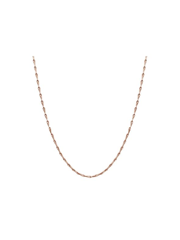 Rose Gold Elongated Cable Chain - 28""
