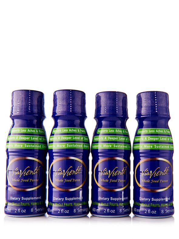 ViaViente Whole Food Puree Pack (4- 2oz Bottles)